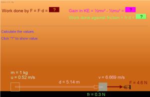 w y energía cinética