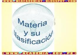 clasificación materia2